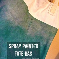 diy bag update with spray paint