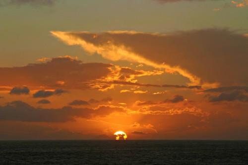 12May cruise sunset
