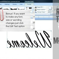 how to reverse image {and text} in word