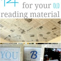 upcycling ideas {new uses for old reading material}