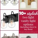 stylish 2 light vanity light options