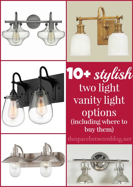 stylish 2 light vanity light options