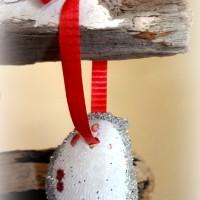 glittered seashell ornaments