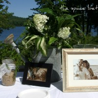 diy wedding memento {driftwood frame}