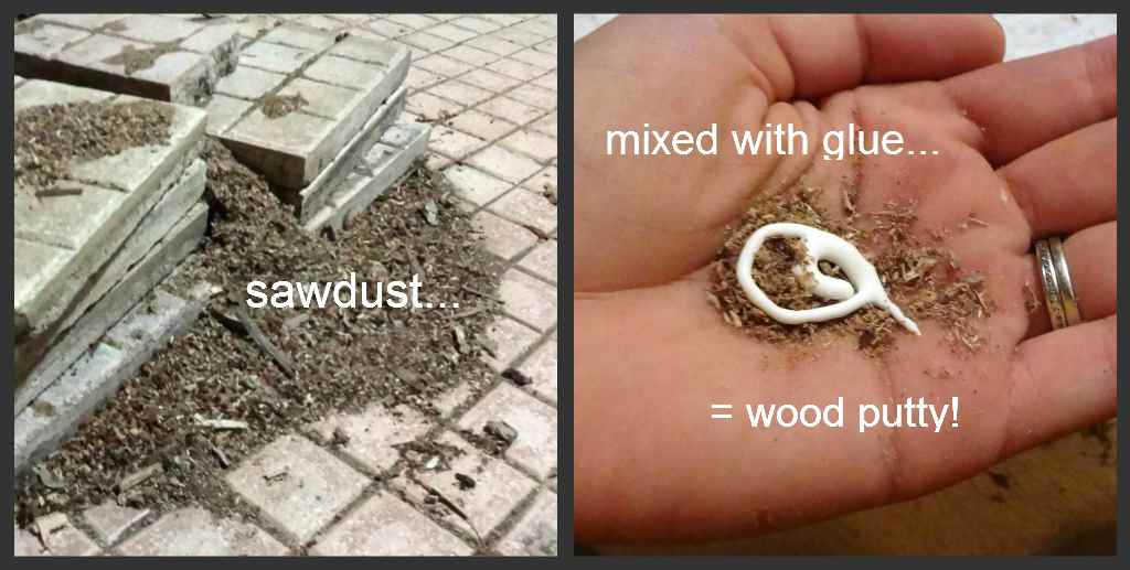 11dec sawdust glue putty How To Make A Coffee Table Out Of A Door