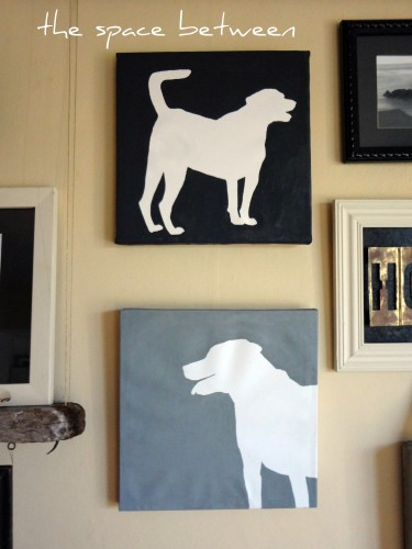 12Jan gallery wall dog canvases