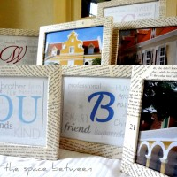 book page covered frames {diy monogram printable}