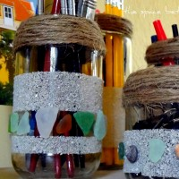 glass jar repurpose {upcycle}