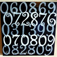 the little black canvas {number art}