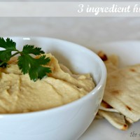 3 ingredient hummus