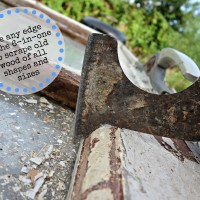 restoring {old wood} scrape, strip and sand