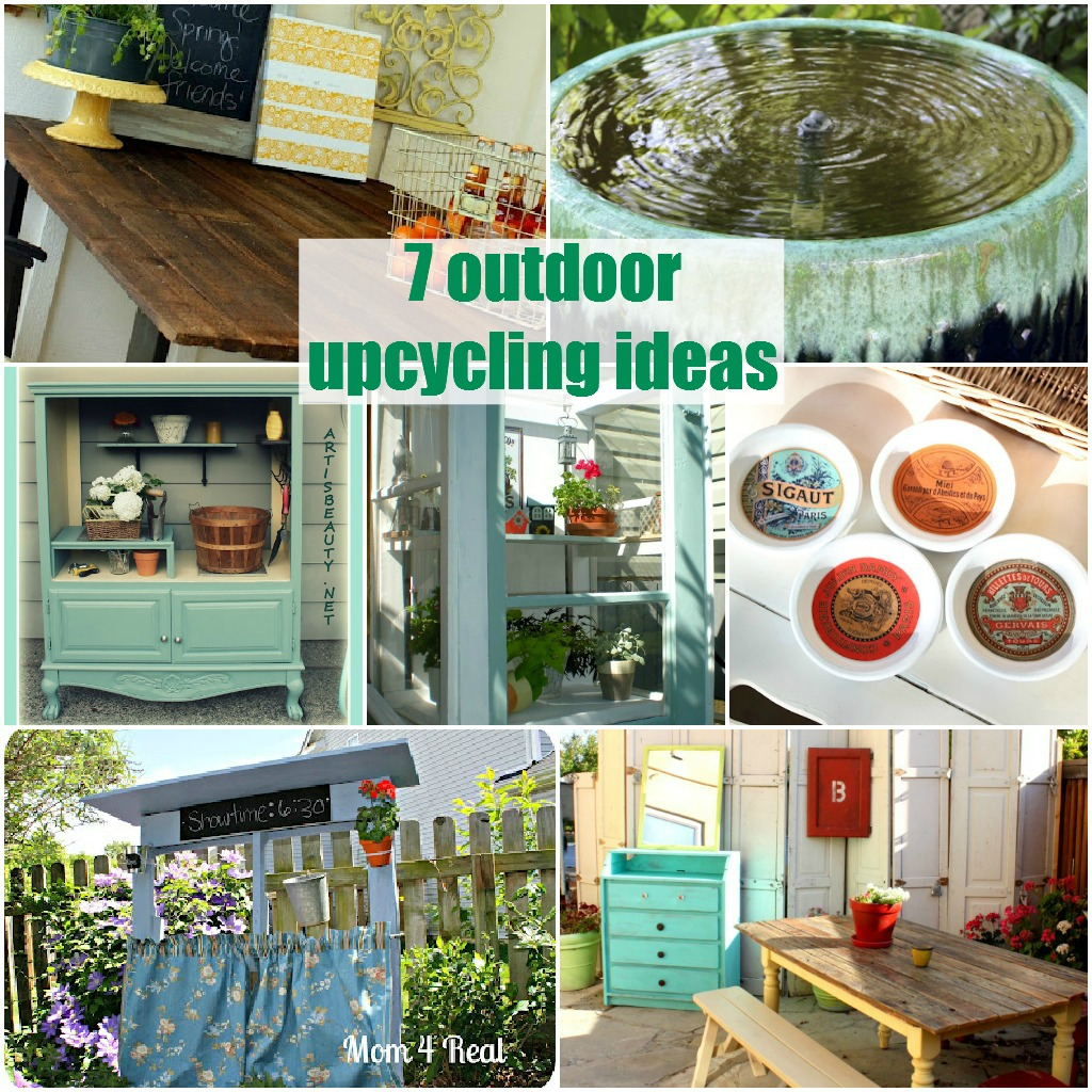 7 outdoor upcycling ideas the space between. Black Bedroom Furniture Sets. Home Design Ideas