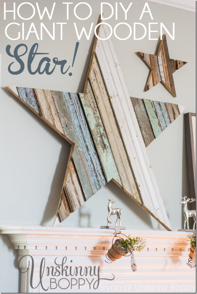 Upcycling Ideas - reclaimed wood star