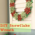 Lisa's DIY Snowflake Wreath1