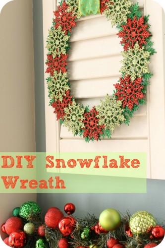 Lisa's DIY Snowflake Wreath1