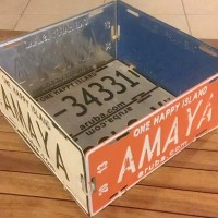 license plate bin and other upcycling ideas