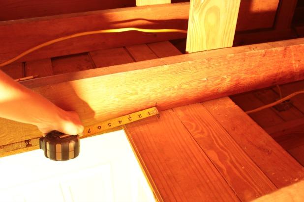 measure new attic opening