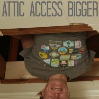 how to head out an attic access