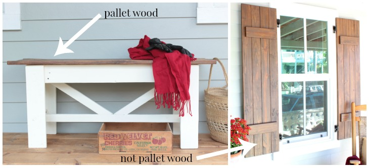 pallet bench and shutter