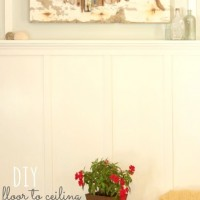 a board & batten accent wall {living room progress!!}