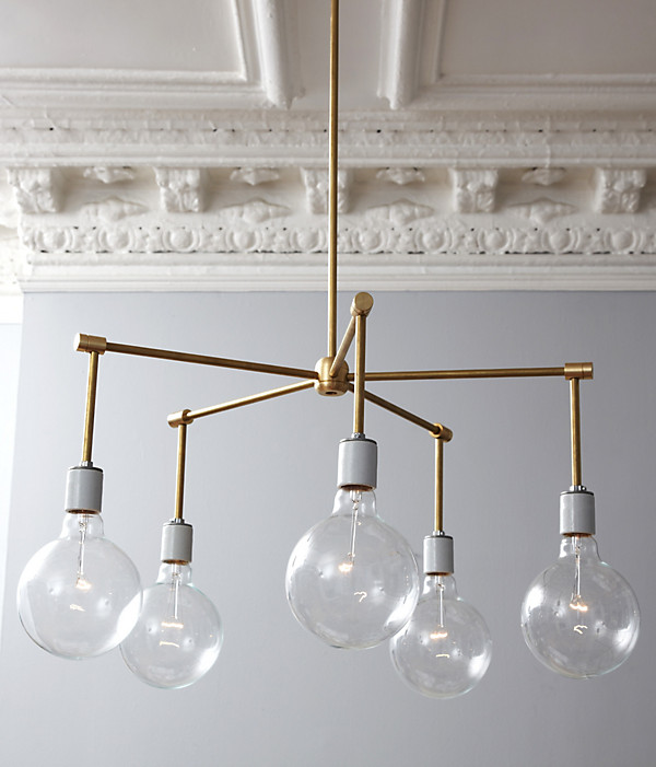 diy chandelier - brass
