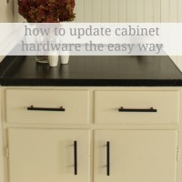 how to update cabinet hardware {the easy way}