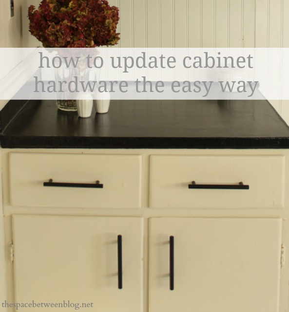 a quick installation tip for new cabinet hardware