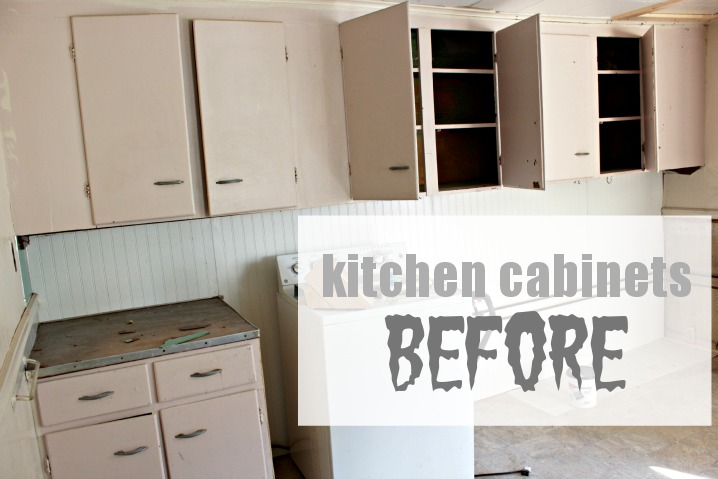Rental Kitchen Cabinet Makeover
