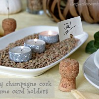 champagne cork {name card holder}
