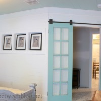 upcycling idea – reclaimed french doors on rolling door hardware