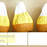 halloween crafts {coconut candy corn}