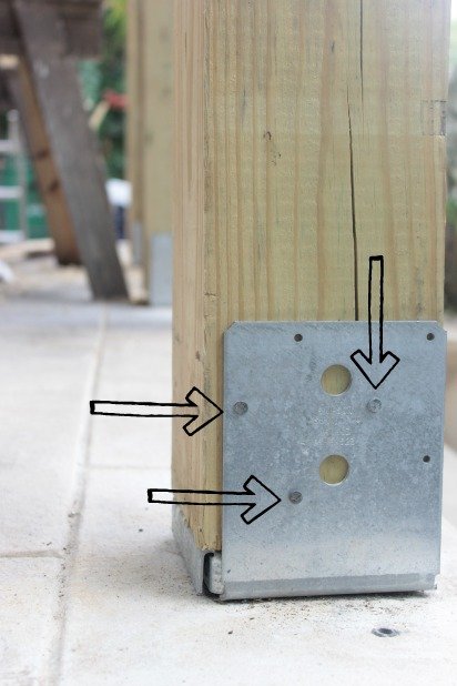 curb appeal ideas - chunky patio posts