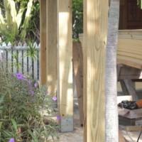 curb appeal idea – chunky patio posts