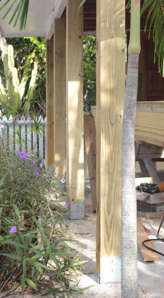 curb appeal idea - chunky patio posts