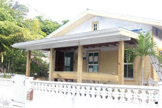 curb appeal idea - add chunky patio posts