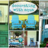 all about color {7 ways to decorate with aqua}