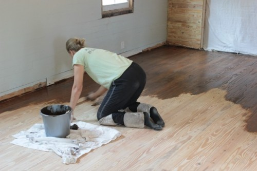 dining-room-floor-staining