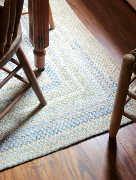 LL Bean chenille braided rugLL Bean chenille braided rug