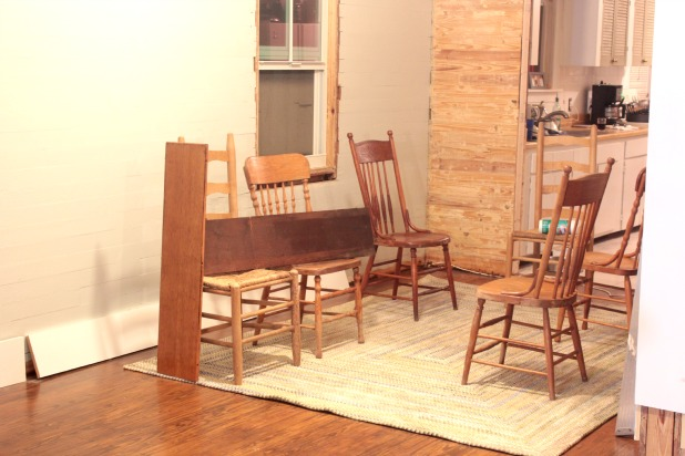 dining room furniture, chairs and rug