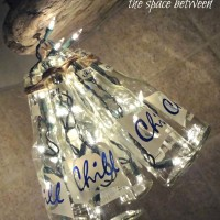 DIY bottle craft {chandelier}