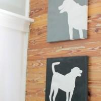 DIY canvas silhouette art