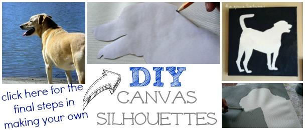 diy canvas silhouettes