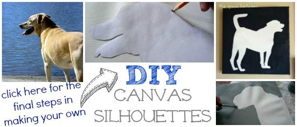 diy canvas silhouettes