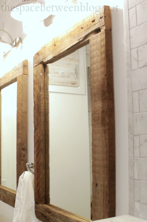 Ana White | Reclaimed Wood Framed Mirrors - Featuring The Space ...