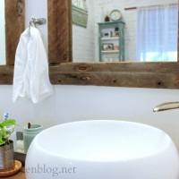 upcycling idea:  DIY reclaimed wood framed mirrors