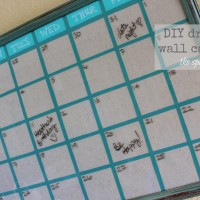 upcycled picture frame turned diy wall calendar
