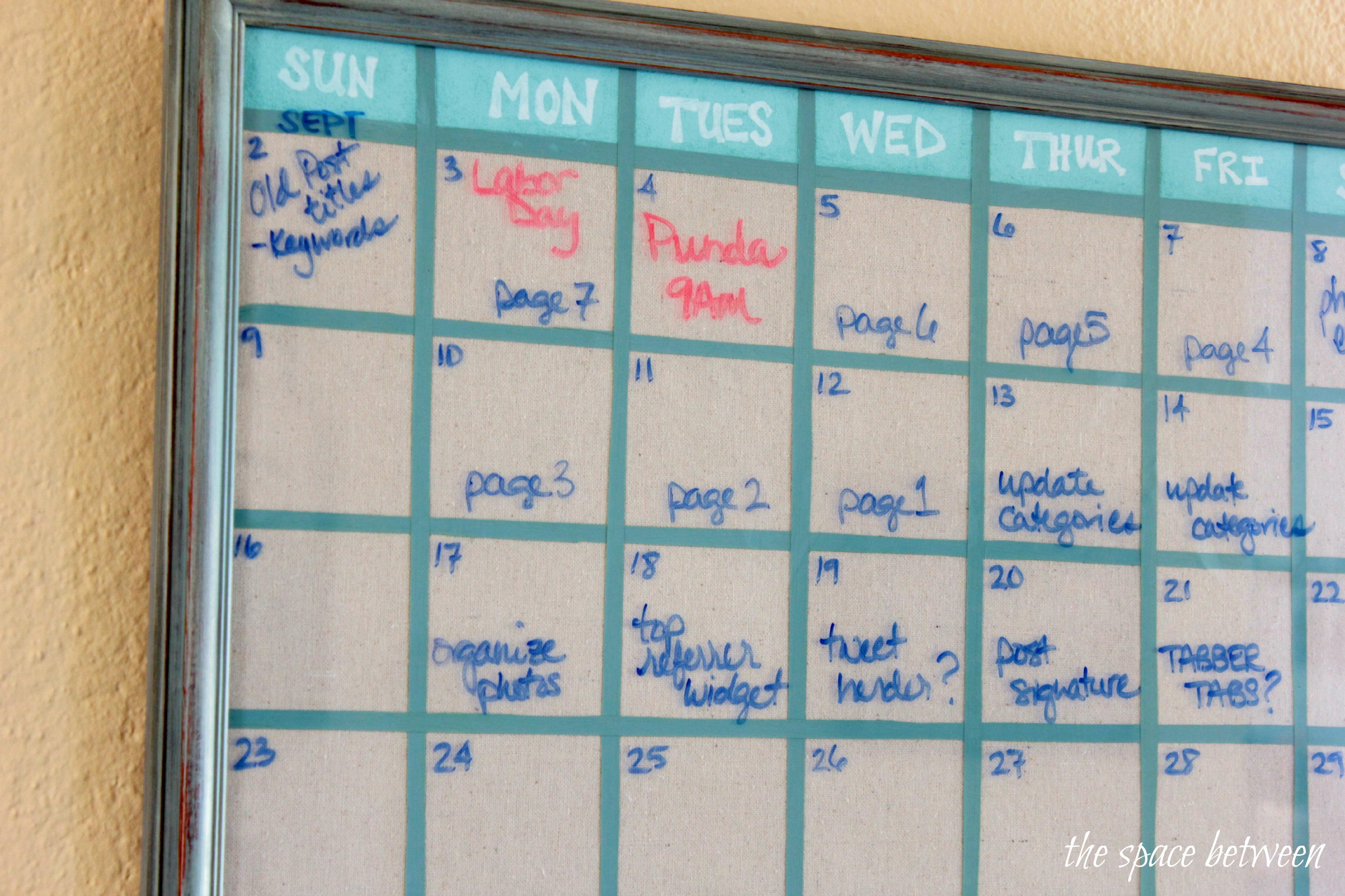 Diy Yearly Wall Calendar : Diy wall calendar
