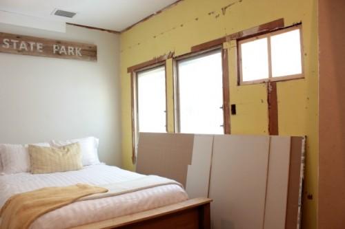 diy wood frame bed