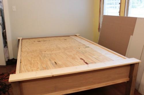 diy wood frame bed assembly