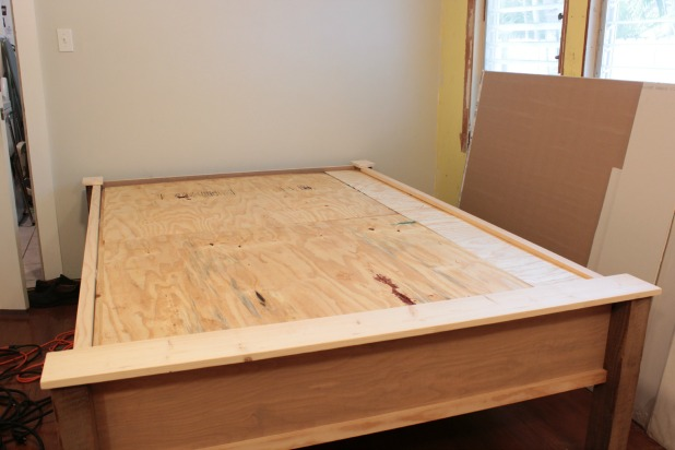 How To Make A Wood Bed Frame The Space Between